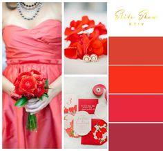 Весняні весілля наповнені якоюсь особливою енергією й атмосферою пробудження, характерною для цієї пори року. Тому так важливо правильно підібрати не тільки тематику для весняного торжества, але й колір. Зверныть увагу на вогненно-червоний (Fiesta Red, святково-червоний), який був обраний інститутом «Pantone» одним з наймодніших кольорів для весняно-літніх весіль 2016.