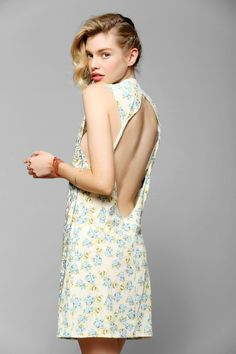 DOE Tarot Floral Knit Slip Dress