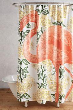 Bohemian Style Shower Curtains for Bath Decor ⋆ Main Dekor Network Flamingo Shower Curtain, Colorful Shower Curtain, Shower Curtains, Spring Shower, Bathroom Interior, Bathroom Ideas, Bathroom Updates, Bath Ideas, Bath Decor