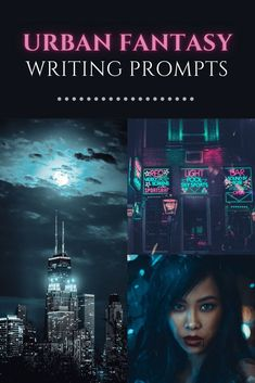 Searching for urban fantasy writing prompts? You found them! Skyscrapers, mass transit, hot night clubs, and the magical world combine in these prompts. Fiction Writing Prompts, Book Writing Tips, Story Prompts, Writing Resources, Writing Ideas, Story Plot Ideas, Dystopian Story Ideas, Urban Stories, Fantasy Writing Prompts