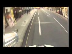 Horrifying moment cyclist crashes into a car at high speed