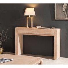 Console rectangulaire en bois 2 tiroirs ANEMONE