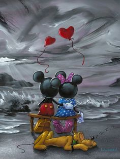 Mickey Mouse Art, Mickey Mouse And Friends, Disney Couples, Disney Love, Arte Disney, Disney Mickey, Disney Wallpaper, Cartoon Wallpaper, Mickey Mouse Wallpaper Iphone