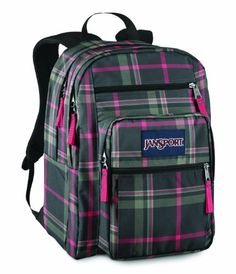 JanSport Big Student School Backpack (Grey Tar Perry Plaid). The JanSport Big Student Pack is the classic JanSport school backpack for students of all ages who carry large loads across campus. Two large main compartments plus organizer and stash pockets make this the bag that gets all your stuff where you need it to go.