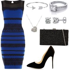 Engagement Party Outfit featuring #thedress