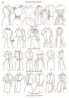 Practical Dress Design Mabel Erwin flat fashion sketch #fashion Illustration #trade sketches #technical drawing #fashionillustration #tradesketches #trade sketches fashion