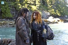 "#The100 4x04 ""A Lie Guarded"" - Nyko and Luna"