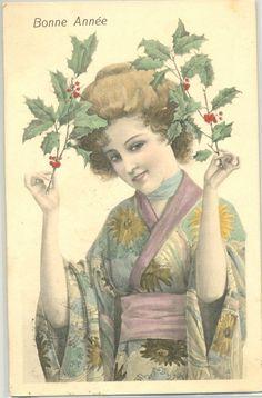 MC021 VIENNE Style FEMME JAPONAISE GEISHA HOUX JAPANESE LADY