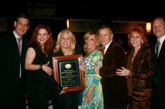 Rita Cosby accepts an award from IAHD with Jim Luce, Lorraine Cancro and Dr. Judy.  Chelsea Piers, NYC, May 2012.