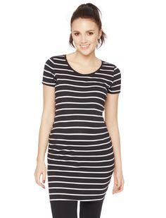 Motherhood Maternity Short Sleeve Scoop Neck Maternity Tunic