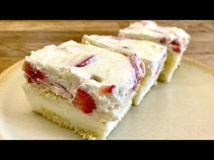 Vanilla Cake, Cheesecake, Food And Drink, Treats, Cooking, Sweet, Desserts, Recipes, Youtube