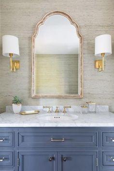 Home Interior Modern .Home Interior Modern Bad Inspiration, Bathroom Inspiration, Interior Inspiration, Arch Mirror, Mirror Ideas, Wood Mirror, Bathroom Renos, Bathroom Ideas, Bathroom Cabinets