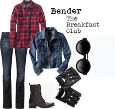 """""""The Breakfast Club: Bender"""" by sofiedi on Polyvore //Halloween?"""