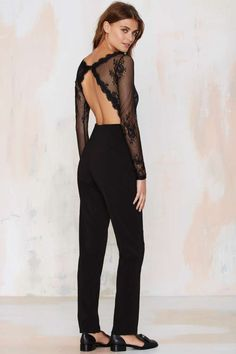 The Glamorous Auerlia Lace Jumpsuit is everything you could want for a simmer's night out.