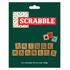 Spruce up your fridge with a set of super Scrabble fridge magnets. Create useful reminders, shopping lists and fun messages. Practice your Scrabble skills everyday whilst waiting for the toaster to pop! This set has over 100 magnetic tiles featuring the full Scrabble letter distribution plus the Triple Word, Triple Letter and Double Word score tiles.  The Official Scrabble Magnet Set Over 100 magnetic scrabble tiles $14.95