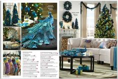 Blue Christmas decor -- would match my living room colors!