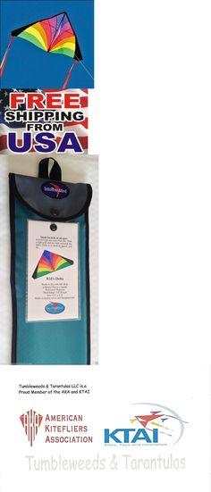 "3-USA Windsock Tails RipStop Nylon Delta Kite USA Levitation 84/""x 43/"" Line"