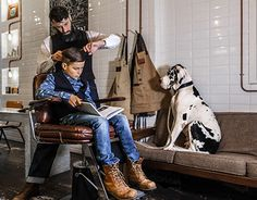 """Check out new work on my @Behance portfolio: """"The Kid, The Dog & a Barber"""" http://be.net/gallery/35480307/The-Kid-The-Dog-a-Barber"""
