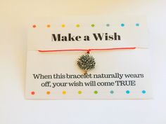Tree Of Life Bracelet Make a Wish Tree Of Life Bracelet Make A Wish, How To Make, Tree Of Life Bracelet, Wish Bracelets, Bracelet Making, Place Card Holders, Unique Jewelry, Handmade Gifts, Etsy