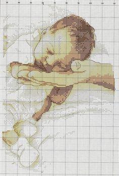 Schema punto croce Bebe Che Dorme 1