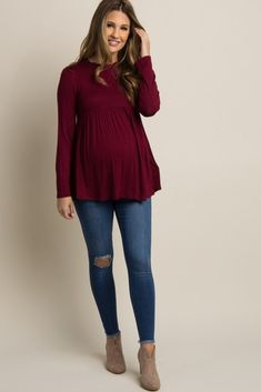 Comfy Jeans Outfits For Pregnant Women Ideas 5 - Pregnant outfits - Schwanger Cute Maternity Outfits, Stylish Maternity, Maternity Fashion, Maternity Dresses, Maternity Style, Maternity Clothing, Pregnancy Fashion, Winter Maternity Clothes, Maternity Looks