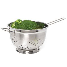 Shop Stainless Steel Colander with Long Handle, 10-1/4 inch at CHEFS.