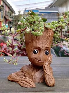 SHOP: Baby groot planter/ plant pot/ so cute/ guardians of the galaxy