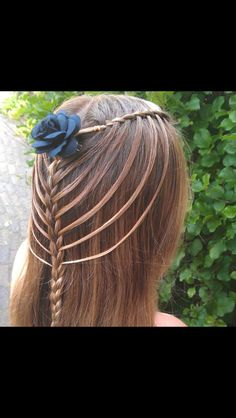 Haar idee n on pinterest waterfall braids french braids and waterfalls - Decoreren haar intrede ...