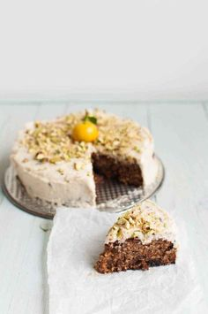 Grain-Free vegan carrot cake the queen of delicious Healthy Gluten Free Recipes, Healthy Baking, Healthy Dinner Recipes, Gourmet Recipes, Paleo, Baking Recipes, Vegan Recipes, Healthy Treats, Healthy Life