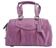Coach 19247 Ashley Leather Satchel Handbag Wisteria Coach http://smile.amazon.com/dp/B00C6MV8OM/ref=cm_sw_r_pi_dp_3gWQvb0Q05AQZ