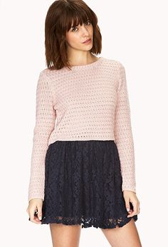 Easy Cropped Sweater | FOREVER 21 - 2000090311