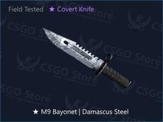 M9 Bayonet Damascus Skins CSGO disponível para venda na Loja CSGO Store™