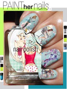 Designer Clothes Shoes & Bags for Women New Nail Art, Nail Art Diy, Cool Nail Art, Manicure Y Pedicure, Top Nail, Nail Tutorials, Stylish Nails, Nail Trends, Nail Arts