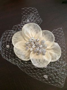 Vintage head piece; created in 1hour for a last minute client