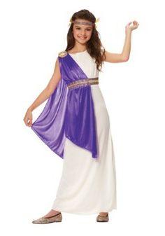 Girls Purple Roman Empress Costume