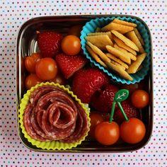 Preschooler Salami Rose Bento #490 by Wendy Copley, via Flickr - this is a simple, cute one! @Wendy Copley