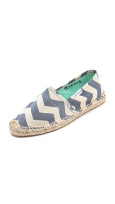So cute - and perfect for summer! (Soludos Chevy Chevs Zigzag Espadrilles)