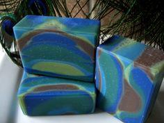 Peacock Soap!  So Pretty!  Handmade!
