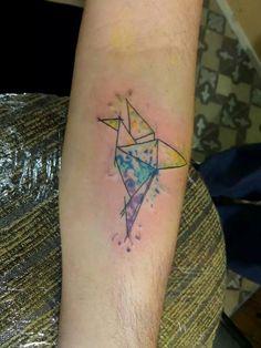 Tattoo , grulla , acuarela