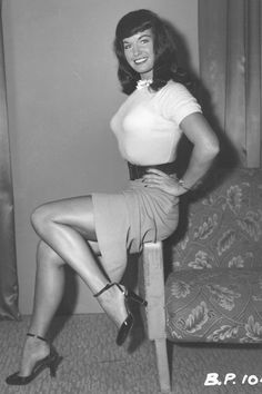 Bettie Page - Pin-Up Model - http://redskyecomics.blogspot.com/2010/02/red-skye-featured-profile-bettie-page.html