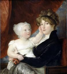 West, Benjamin Mrs Benjamin West II with her son Benjamin West III 1805 Dulwich Picture Gallery, Google Art Project, 1800s Fashion, Digital Museum, Collaborative Art, Art Uk, Mother And Child, American Artists, Family Portraits