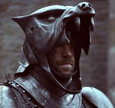The Hound from Game Of Thrones has the coolest helm of all.