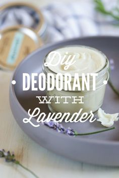 DIY Homemade Deodorant with Lavender - Live Simply DIY Homemade Deodorant with Lavender. This deodorant is so easy to make and actually works! Florida tested and approved. Fight stinky armpits and the summer heat (or any heat), naturally! Homemade Bug Spray, Homemade Deodorant, Natural Deodorant, Deodorant Recipes, Soap Recipes, Homemade Beauty Products, Natural Cleaning Products, Tea Tree Essential Oil, Essential Oils