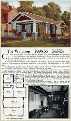 "Aladdin ""The Winthrop""  kit home - 1916 catalog of Readi Cut houses"