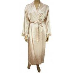 MARLON Long Length Satin Dressing Gown. Sizes 14-32
