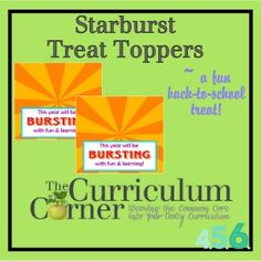 Starburst Treat Toppers for Back to School