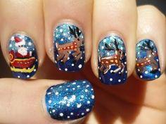 Santa Sleigh and Reindeer Nail Art Christmas Tutorial http://www.youtube.com/watch?v=gMGE6oS71qg=em-uploademail