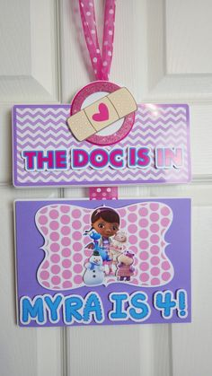 Door Sign DOC MCSTUFFINS Isnpired Birthday by EPICparties on Etsy, $25.00