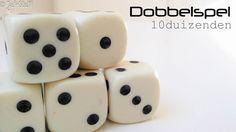 Een dobbelspel voor de hoge groepen van het basisonderwijs! Juf-Stuff: dobbelspel; 10duizenden