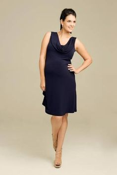 This Ripe Maternity Donna Cowl Dress would be perfect for date night!